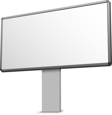 billboard posting: Blank billboard illustration