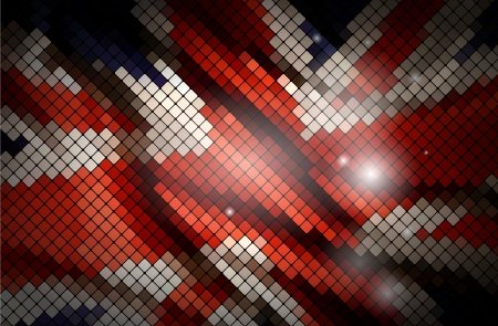 Great britain flag made of tiles  Vector illustration  Vector
