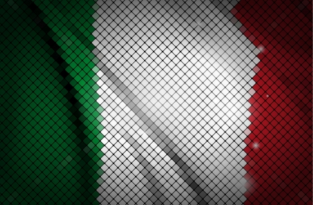 made in italy: Italy flag made of tiles  Vector illustration  Illustration