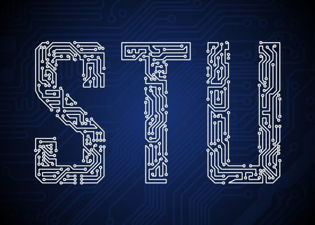 computer chip: Set of Circuit board style letters