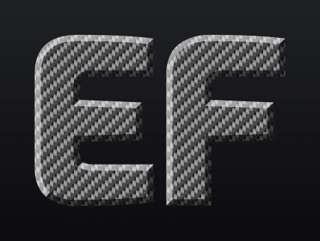 alphabetical letters: Carbon fiber capital letters  Vector illustration