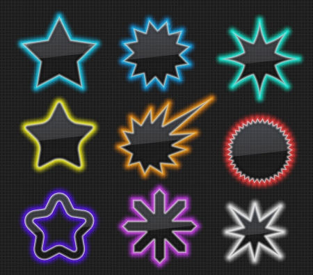 Glossy star over gray background Vector