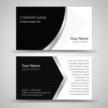 抽象的な創造的なビジネス カード テンプレートを設定します。