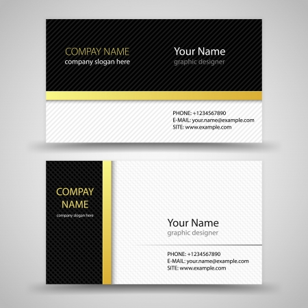 office visit: Vector abstract creative business cards  set template  Illustration