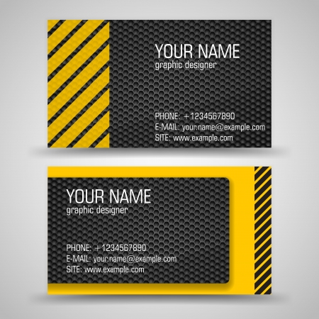 Vector abstract creative business cards  set template  Stock Vector - 16603139