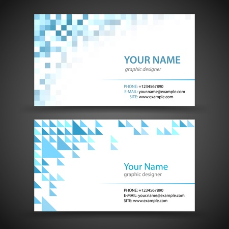 Vector abstract creative business cards  set template  Çizim