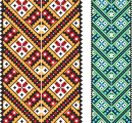 ukraine folk: Ukrainian national ornament   illustration  Illustration