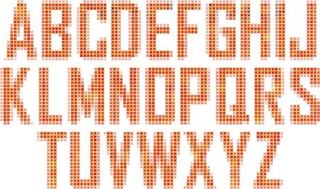 Mosaic  font Stock Vector - 16833198