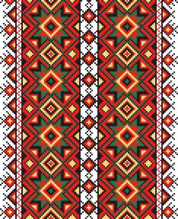 Ornamento ucraniano nacional ilustración vectorial