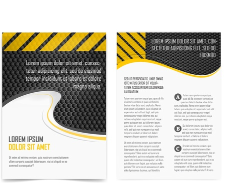 flyer layout: broshure pages  Template  Illustration