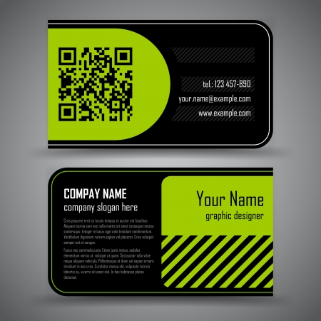 qrcode: abstract creative business cards  set template