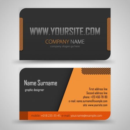 name card design: Vector abstract creative business cards  set template  Illustration