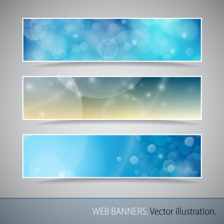 Abstract Banner With Bokeh  Vector Illustration  Stock Vector - 17919798