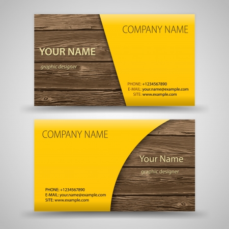 Vector abstract creative business cards  set template  Иллюстрация