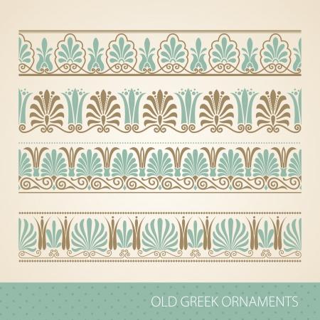 古いギリシャの飾り。イラスト。  イラスト・ベクター素材