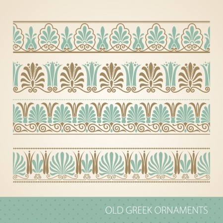 antigua grecia: Ornamento griego antiguo. ilustración. Vectores