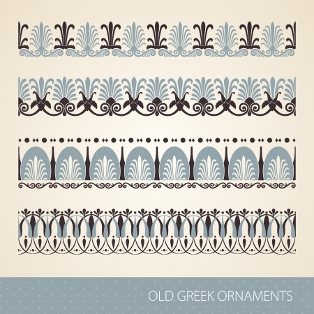 neoclassical: Old greek ornament.  illustration.