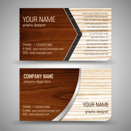 抽象的な創造的なビジネス カード (セット テンプレート)  イラスト・ベクター素材