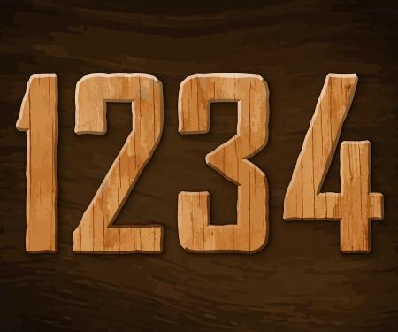 Alphabet made of wood.  illustration. Stock Vector - 18285120