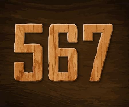 Alphabet made of wood. illustration. Stock Vector - 18285106
