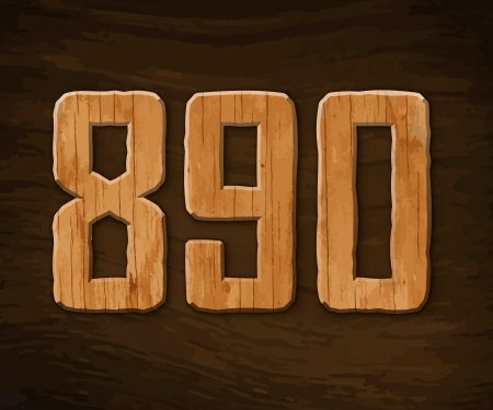 Alphabet made of wood.  illustration. Stock Vector - 18285114
