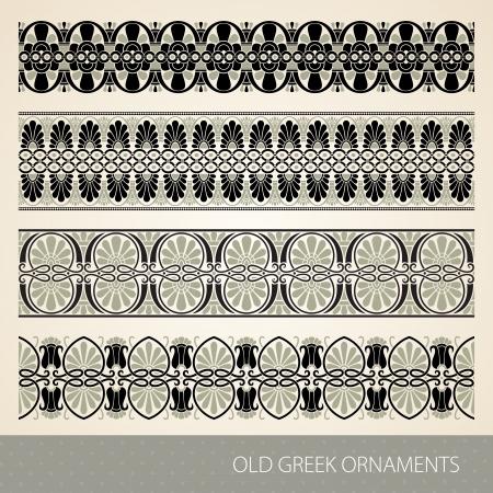 neoclassical: Old greek ornament. Vector illustration. Illustration