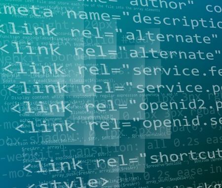 css: CSS e il codice HTML Vettoriali
