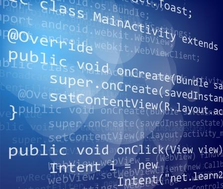 Java programing code on dark background Stock Photo - 20403973