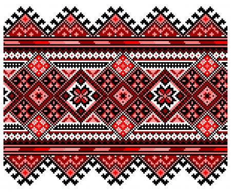 belorussian: Ucrainian national ornament. Vector illustration. Stock Photo