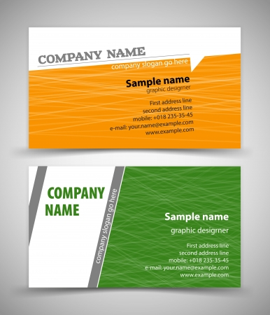 office visit: abstract creative business cards (set template) Illustration