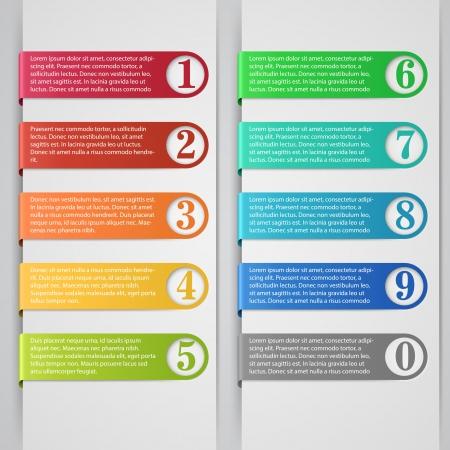 Modern number list infographic banner  Illustration