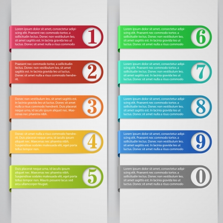 the list: Modern number list infographic banner  Illustration