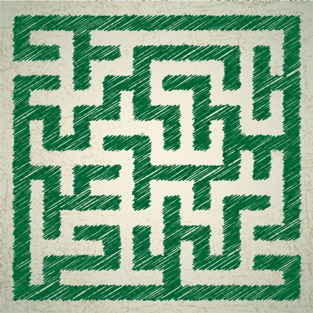 Vector illustration of maze  Vector