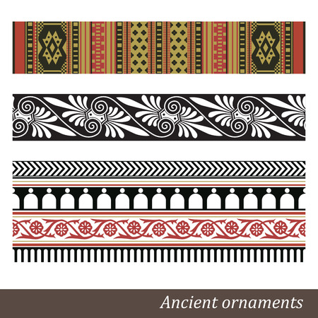 neoclassical: Old greek ornament  Vector illustration