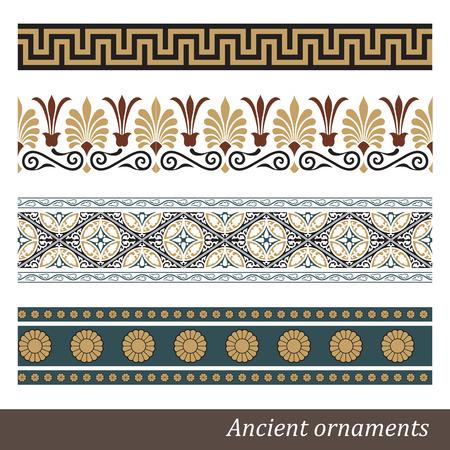 古いギリシャ飾りベクトル イラスト