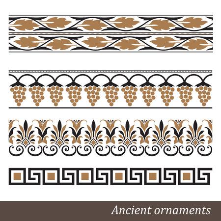 古いギリシャ飾りベクトル図