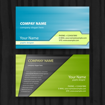 visit card: Vector abstract creative business cards  set template  Illustration