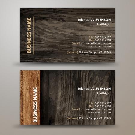 carta identit�: Vector astratto biglietti da visita creativi impostare modello Vettoriali
