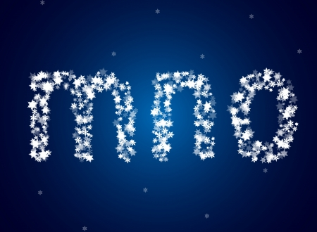 Snow letters over snow background Stock Vector - 23062438