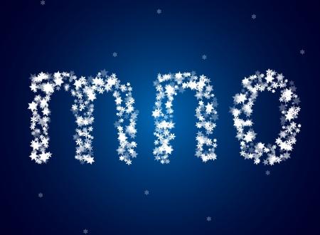 ice alphabet: Snow letters over snow background
