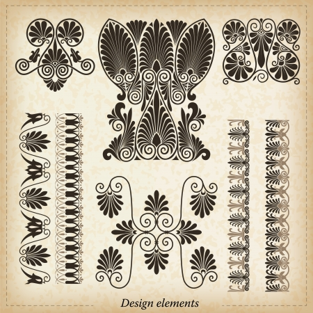 neoclassical: Old greek ornaments  Vector illustration