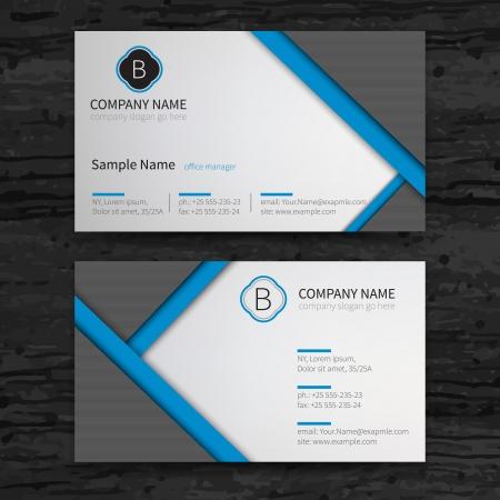 бизнес: Набор векторных абстрактные творческие визитные карточки шаблон