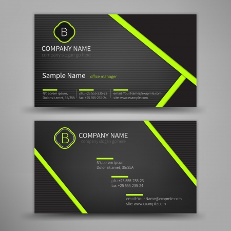 business: Vector abstract creative business cards  set template