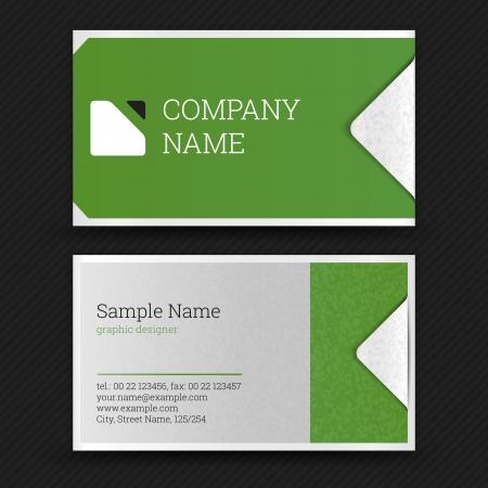 visitekaartje: Business Card Set. Vector illustratie.