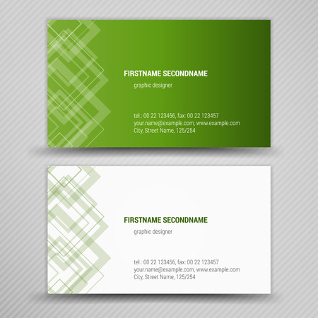 identification card: creative business cards (set template)  Illustration