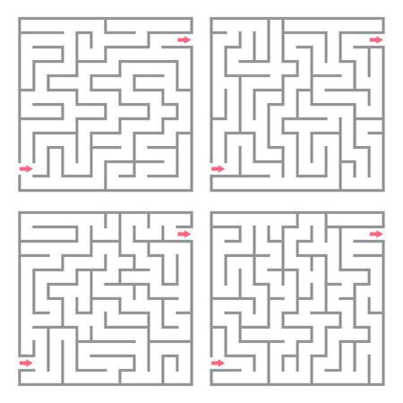 Set of vector mazes