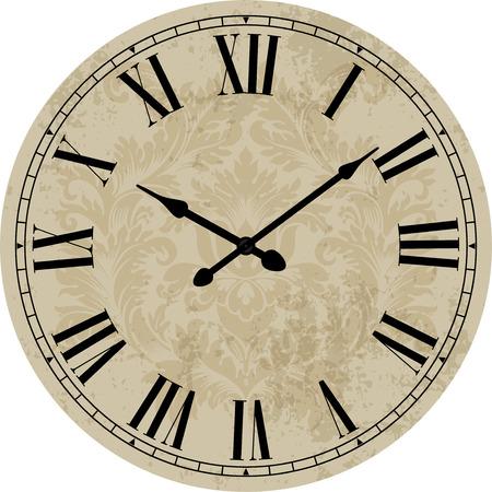 midnight time: Old clock.Vector illustration.