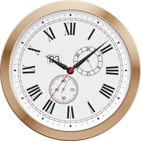 reloj antiguo: Ilustración del Antiguo clock.Vector. Vectores