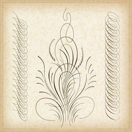 caligraphy: Decorative caligraphy border. Illustration