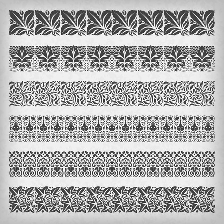 victorian style: Decorative vintage borders.